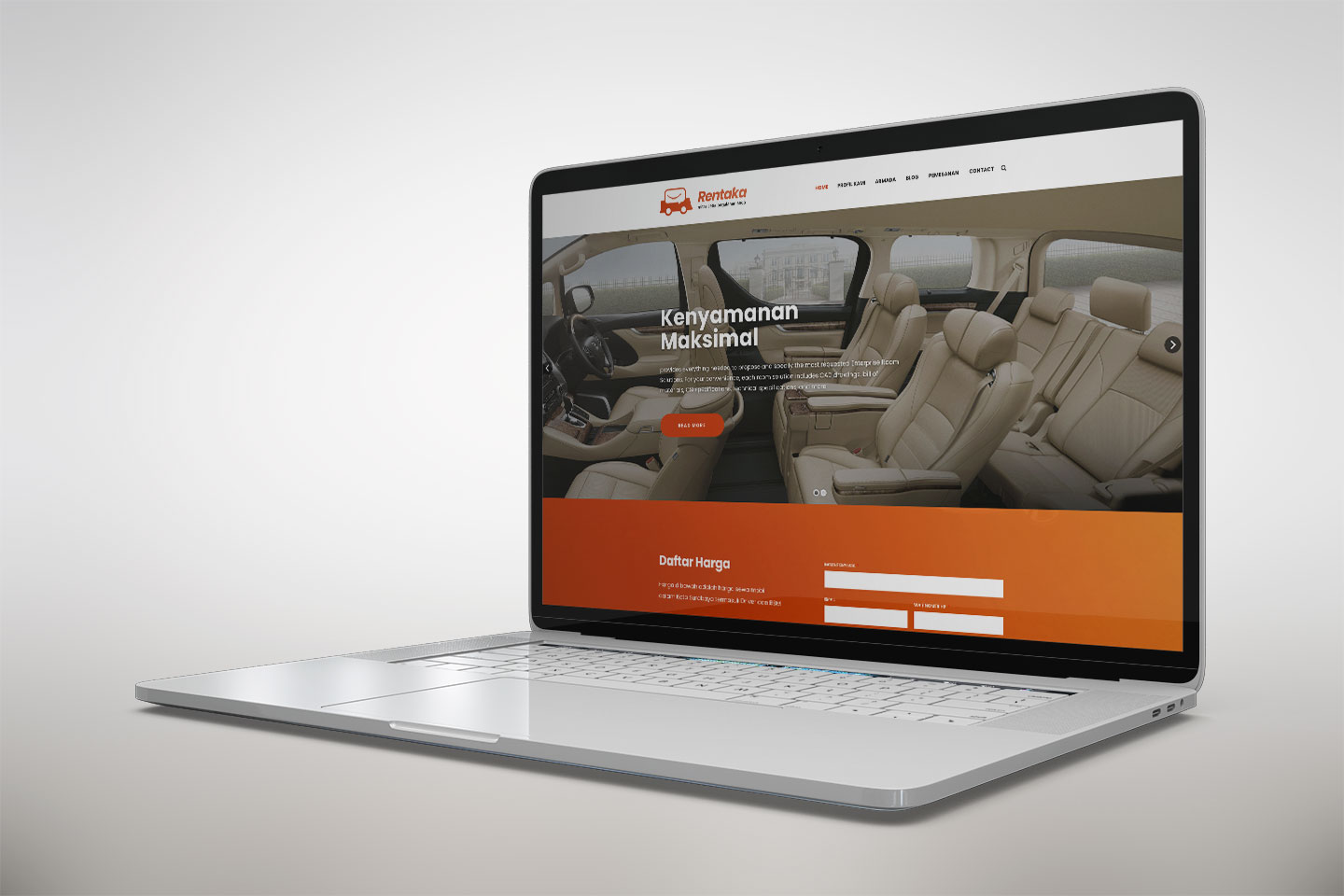 Rent Car Website Development